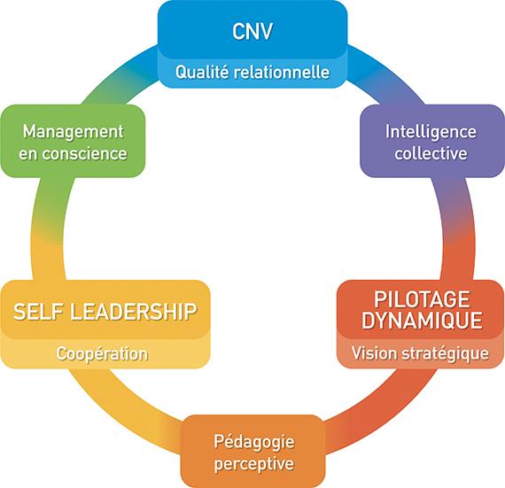 Le Cycle des Pionniers se base sur six approches pour accompagner les transformations individuelles et collectives.